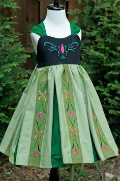 Anna Frozen Cotton Coronation Every Day Wear by DesignFairies