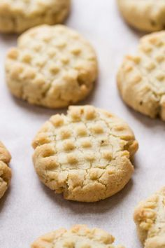 Almond Flour Shortbread Cookies via @kingarthurflour