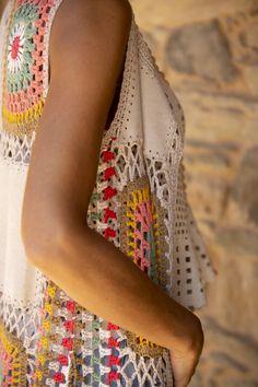Thread Crochet, Knit Or Crochet, Crochet Scarves, Crochet Motif, Crochet Designs, Crochet Clothes, Crochet Patterns, Hippie Crochet, Knit Fashion