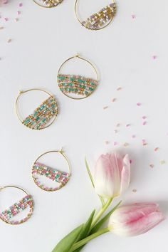 If you're looking for a spring time DIY then may I suggest these beaded hoop beauties? I put this beaded hoop tutorial  together for Lisa...