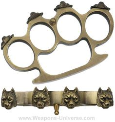 Old brass knuckle duster, New York Metropolitan Police ...