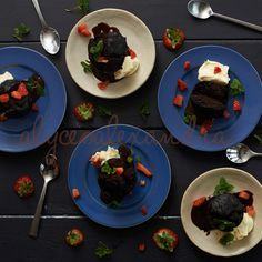 Steamed Chocolate Puddings.