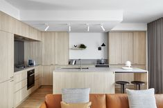 Interior Architecture, Interior And Exterior, Interior Design, Reeded Glass, Stone Bench, Sustainable Furniture, Bright Kitchens, Built In Bench, Small Space Living