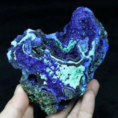 485g Aesthetic royal blue Azurite & Malachite display mineral China CM692287 #UnbrandedGeneric