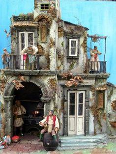 Architectures et paysages pour la crèche napolitaine - Le Presepio.com - Vente crèches: figurines, accessoires, effets spéciaux, de bricolage pour la crèche.