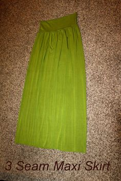 Maxi skirt.  I've made a bunch of these for the girl's out of my old shirts.  I'd love to make one for myself!  Comfy!