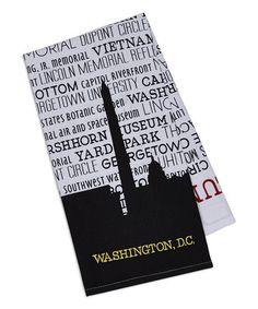 Love this Washington DC Printed Dishtowel - Set of Three on #zulily! #zulilyfinds