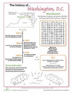 Worksheets: History of Washington DC