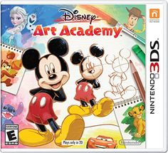 Disney Art Academy – Nintendo 3DS Bring Disney and Pixar character artwork to life using a bundle of drawing tools, like paint brushes, markers, pastels, and moreLearn to draw with dozens of step-by-step lessons inspired from Disney art and Pixar animationGive your art some flare with the new Magic Brush…  Read More  http://techgifts.mobi/shop/disney-art-academy-nintendo-3ds/