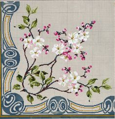 This Pin was discovered by mel Butterfly Cross Stitch, Cross Stitch Borders, Cross Stitch Rose, Cross Stitch Flowers, Cross Stitch Charts, Cross Stitch Designs, Cross Stitching, Cross Stitch Embroidery, Hand Embroidery