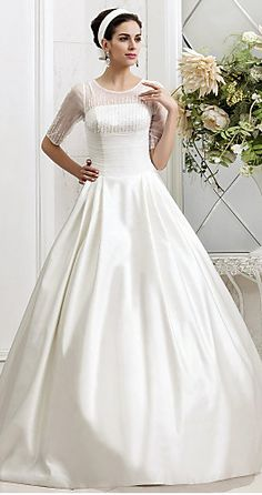 someone please wear this! beaded satin ball gown