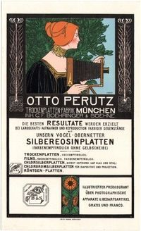 Otto Perutz Lithographic Advertising Card - Fritz Rehm