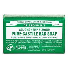 Dr. Bronner's Organic Castile Bar Soap - Almond - 5 oz. - http://essential-organic.com/dr-bronners-organic-castile-bar-soap-almond-5-oz/