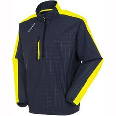 Sunice Golf Hampton Golf Windshirt Charcoal Embossed Tennis
