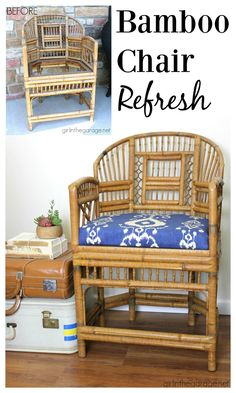 Bamboo chair makeove