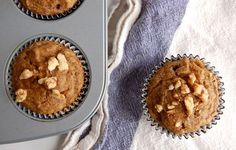 Amazing Paleo Banana Nut Muffins - Paleo Grubs. I'm baking these right now, and they smell delicious!