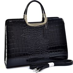 Cheap fashionable briefcase, Buy Quality fashion access directly from China fashion kits Suppliers:    By popular demand, this fashion briefcase is back in a new and improved faux leather and patent croco texture. In add
