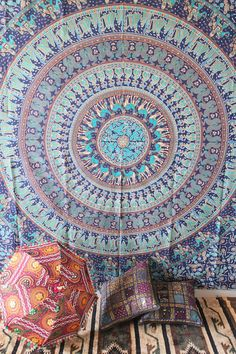 Hippie Tapestry mandala tapestry Wall Hanging by craftozone, $19.99