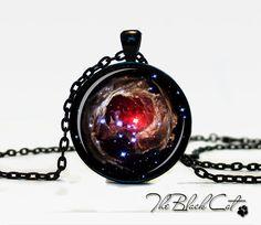 Nébuleuse Hélix pendentif nébuleuse bijoux Galaxy collier nébuleuse Hélix constellation Aquarius univers pendentif pour hommes