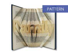 Folded Book Art Pattern - Family - 239 Folds - Including manual - Bookfolding Pattern - Folded Book Pattern - Book Folding pattern