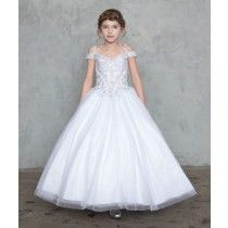 Shop New First Communion Dresses for 2019 on sale. Popular Girls First Holy Communion Dresses offered in a variety of sizes, lengths. Shop 2019 First Communion Dresses on Sale at Christian Expressions Girls First Communion Dresses, Holy Communion Dresses, Lace Bodice, Lace Sleeves, Size 14 Dresses, Dresses For Sale, Bell Sleeve Dress, Floral Lace, Ball Gowns