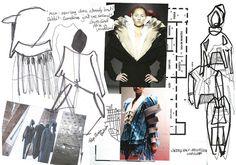 Fashion Sketchbook - fashion design sketches, research development; Sketchbook Layout, Textiles Sketchbook, Fashion Sketchbook, Fashion Design Portfolio, Fashion Design Sketches, Sketch Design, Fashion Collage, Fashion Art, Illustration Mode