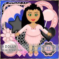 CU Dolly Mini Scrapkit [Anjo Creations] - $1.25 : LowBudgetScrapping
