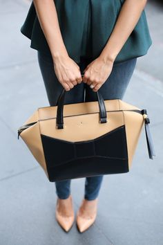 Julia Engel shares what's in her #NYFW handbag featuring @kate spade new york and @TibiPR - See more at: http://www.fashionindie.com/post/me-my-beau#sthash.LWrEnNWm.dpuf by @Julia Engel #fashion #blogger #peplum