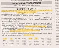 Edital da SETRANSP Campinas concede prazos para defesas e recursos contra multas de trânsito e indicação de real condutor infrator 74550 28.12.15 +http://brml.co/1YMEqKM