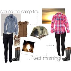 cute camping outfits...of course i would pin something like this.