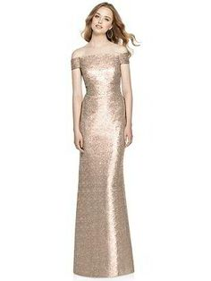 Dessy Collection - 3011 Sequined Off-Shoulder Trumpet Dress Champagne Bridesmaid Dresses, Bridesmaid Dress Colors, Bridesmaids, Champagne Evening Dress, Prom Dresses, Bridesmaid Gowns, Evening Dresses, Sequin Outfit, Sequin Dress