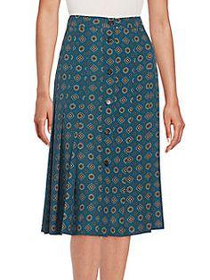 MICHAEL KORS Darlington Silk Skirt. #michaelkors #cloth #skirt