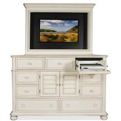 Placid Cove Media Dresser And Mirror I Riverside Furniture