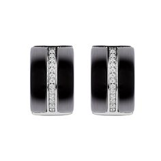 Totum Earrings Black Ceramic #LuxenterJoyas  #LuxenterSilver