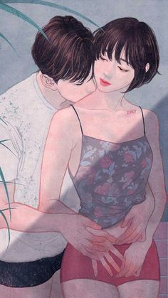 Zipcy ilustraciones de amor 17 Korean artist- zipcy's art is sensual, and full of the fresh buds of a Couple Sketch, Couple Drawings, Art Drawings, Illustration Art Nouveau, Couple Illustration, Cute Couple Art, Anime Love Couple, Romantic Couples, Cute Couples