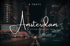 Amsterdam • 8 Elegant Fonts by Lettersiro on @creativemarket