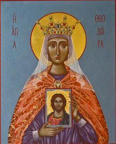 Hagia Theodora School of Byzantine Iconography Icons Acquisitions and Commissions Orthodox Icons, All Saints, Byzantine, Costume Design, Ikon, Holi, Mona Lisa, North Western, Princess Zelda