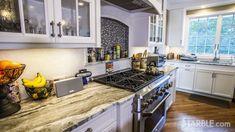 fantasy brown quartzite kitchen marble counter