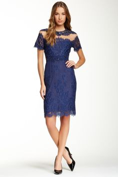 A head-turner for sure!  Marchesa Notte Embellished Lace Cocktail Dress by Marchesa on @HauteLook