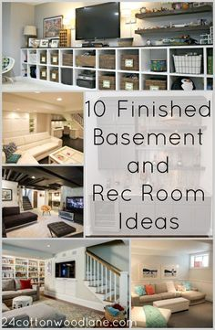 10 Finished Basement and Rec Room Ideas- 24 Cottonwood Lane