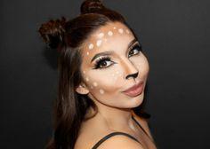 schminken bambi reh selber machen damen ideen #carnival #bambi #party