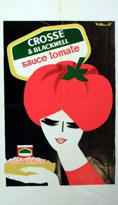 Tomato Sauce, 1970s - original vintage poster by Villemot listed on AntikBar.co.uk