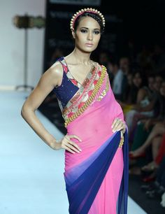 A model shows off designer Pallavi Jaipur's collection at Lakme Fashion Week. #Fashion #Style #LFW