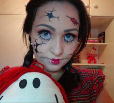 Maquiagem Halloween Boneca quebrada