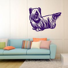 Dog Decal Skye terrier , Vinyl Sticker Decal - Good for Walls, Cars, Ipads, Mirrors Etc