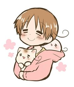 Hetalia ― Italy, with Mochi!Italy and Neko!Italy