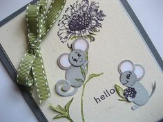 Mice made with bird builder punch! So cute! http://lindas-stampinloft.blogspot.com/2012/05/how-about-pair-of-mice.html#