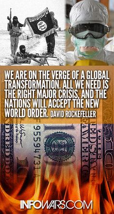 The new world order will be a reality. When the 'abomination of desolation' spoken of in the book of Daniel appears ~ the end is litteraly at the door, repent of your sins and accept Jesus as your savior that it might be well with you, for who so ever calls on the Lord Jesus and follows Him will be saved.