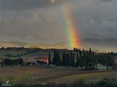 Tuscany Italy, Country Roads, Rainbow, Celestial, Sunset, Outdoor, Toscana Italy, Sunsets, Outdoors