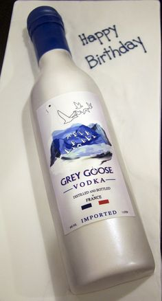 grey goose vodka bottle cake | by www.fortheloveofcake.ca